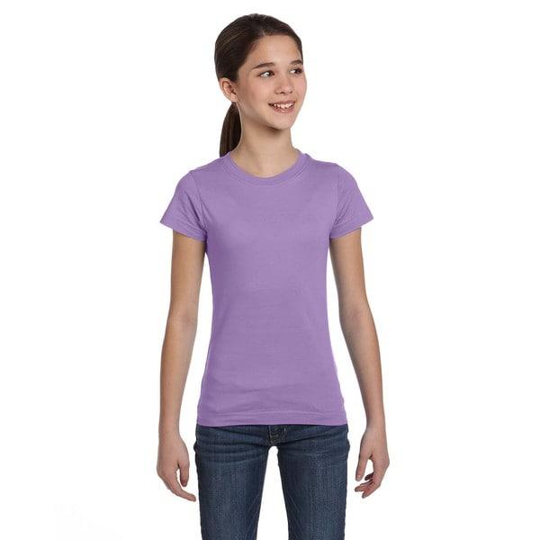 Fine Girl's Lavender Jersey T-Shirt