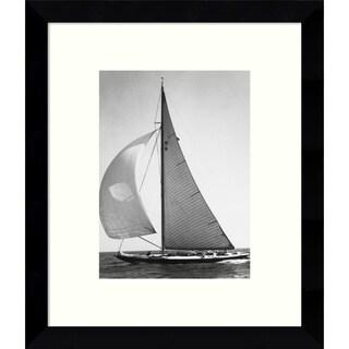 Framed Art Print 'Full Front Sail, 1936 (Boat)' 9 x 11-inch