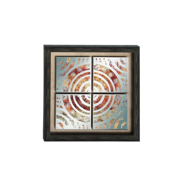 Polystyrene Wood Framed Mirror Art 31 inches x 31 inches