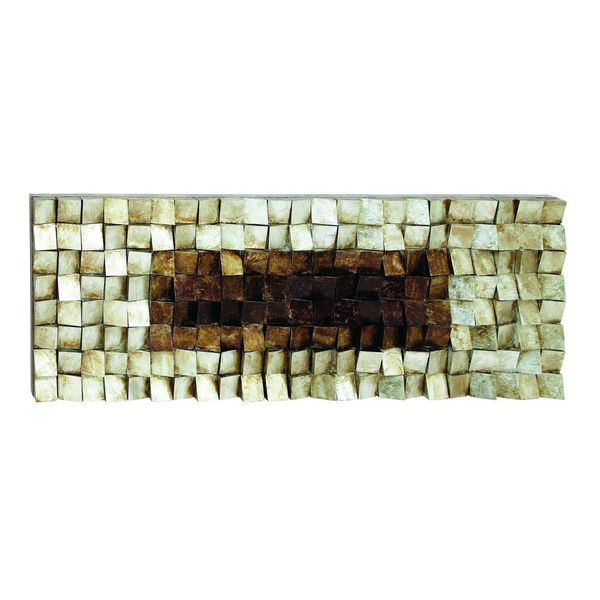 Multicolored MDF Wood and Plastic Wall Art (63-inch x 22-inch)