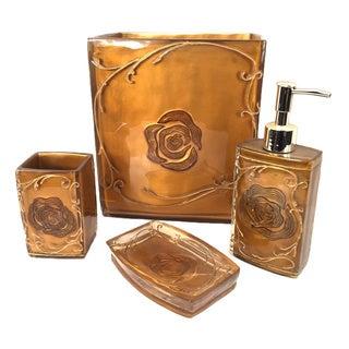 Gold 4-piece Bathroom Accessory Set