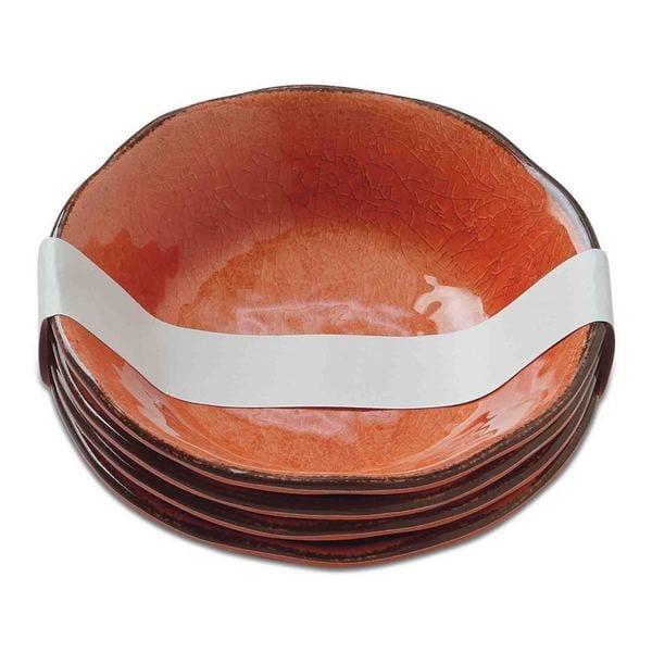 TAG Veranda Melamine Bowls Coral