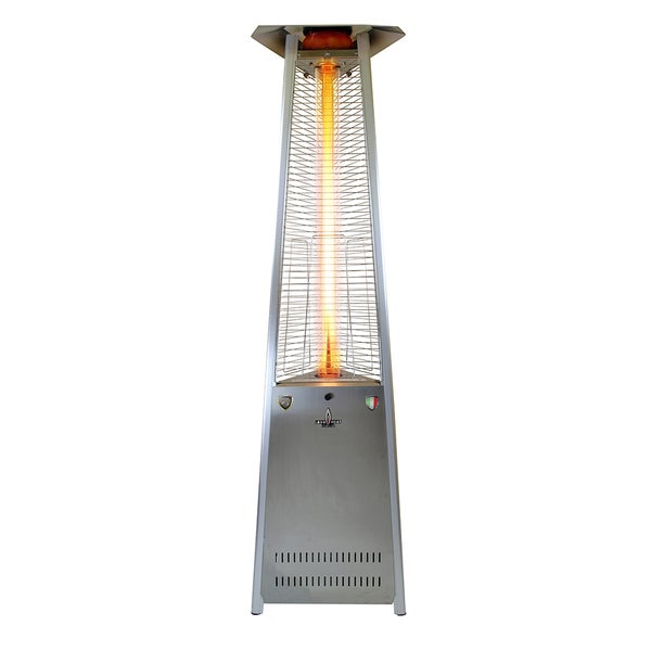 italia triangular 8 feet commercial natural gas flame patio heater