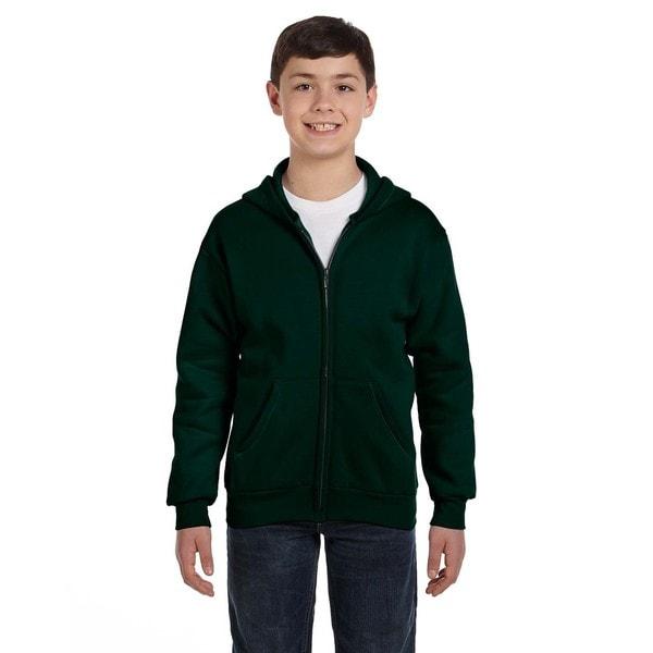 Comfortblend Boys' Ecosmart Deep Forest Full-Zip Hoodie Sweatshirt
