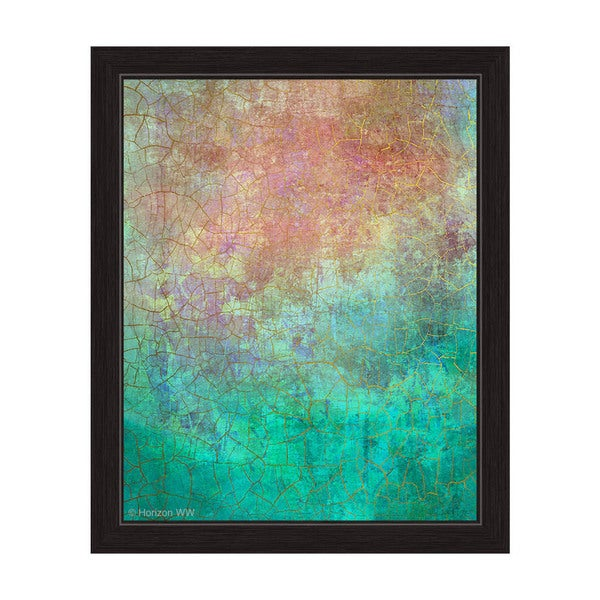 Teal Vision Framed Graphic Art