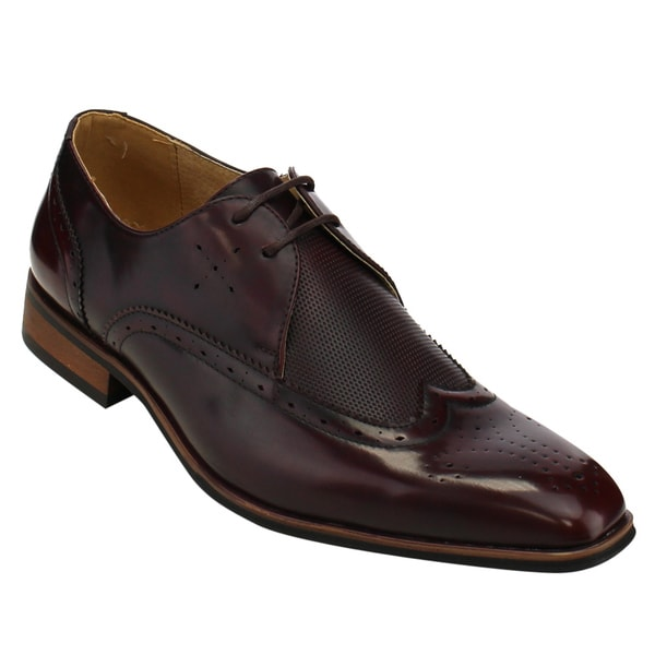 MIKO LOTTI FC78 Men's Wing Tip Lace Up Brogue Oxford Dress Shoes