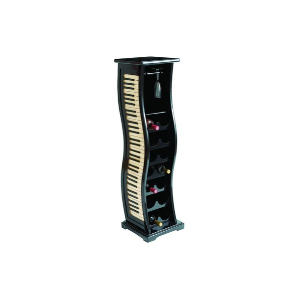 Wavy Piano Keyboard Style 14 Bottle Wine Rack