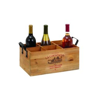 The Gray Barn Red River 6-bottle Wood Wine Box