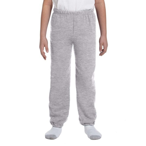 Gildan Boys' Grey Cotton-blend Sport Sweatpants