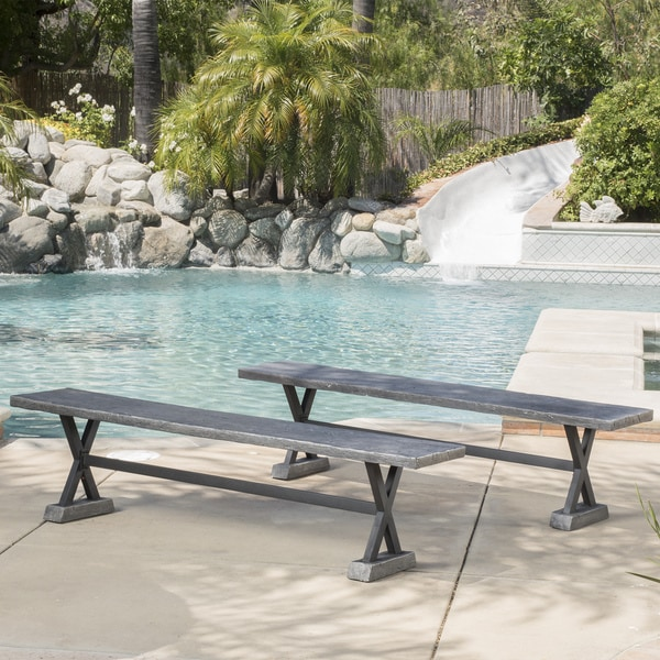 Christopher Knight Home Belmond Outdoor Dining Bench (Set of 2)