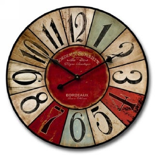 Shabby Chic Multi-Colored Wall Clock