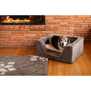 Snoozer Luxury Microsuede Square Memory Foam Dog Bed