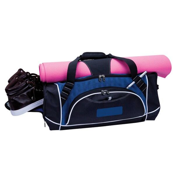 Goodhope Damier Deluxe Weekender Blue Duffel Bag