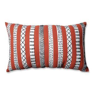 Pillow Perfect Tribal Bands Rust-Cream-Black Rectangular Throw Pillow