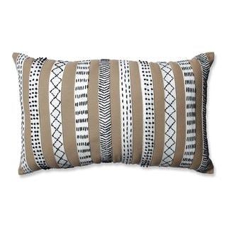 Pillow Perfect Tribal Bands Camel-Cream-Black Rectangular Throw Pillow