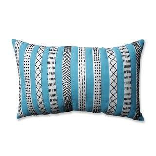 Pillow Perfect Tribal Bands Turquiose-Cream-Black Rectangular Throw Pillow