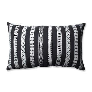 Pillow Perfect Tribal Bands Grey-Cream-Black Rectangular Throw Pillow