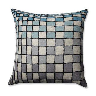 Pillow Perfect Checker Board Grey-Blue-Cream 16.5-inch Throw Pillow