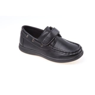 Josmo Boys' Black Boat Shoes (Sizes 6-11)