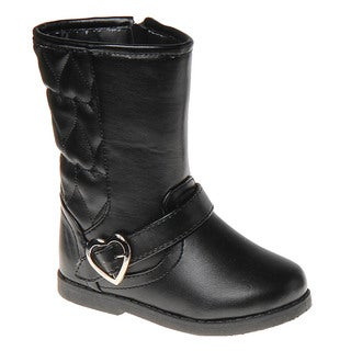 Laura Ashley Girls' Heart Quilt Boots