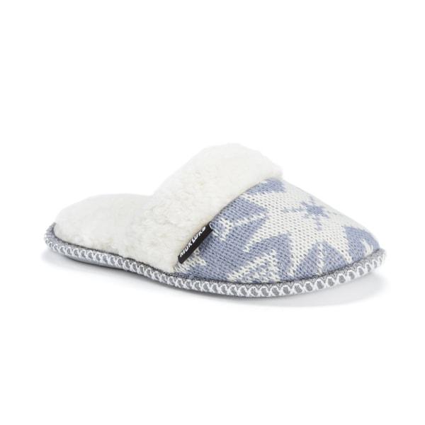 Muk Luks Women's Polyester/ Acrylic Fairisle Knit Scuff