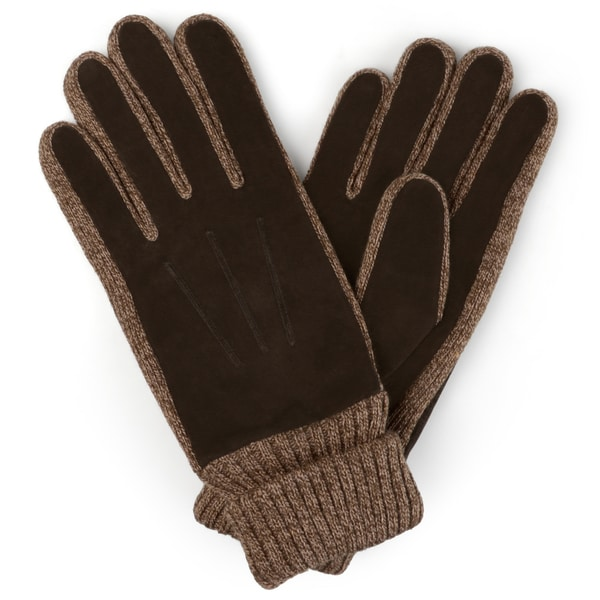 Vance Co. Men's Lined Leather Suede Gloves