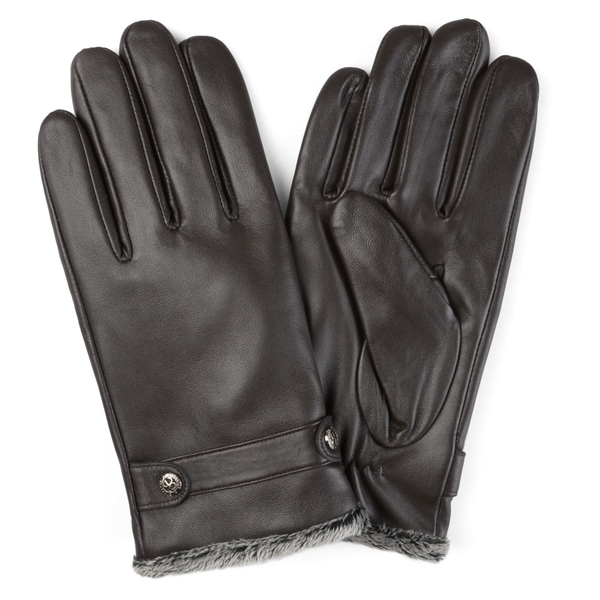Vance Co. Men's Lined Leather Sheepskin Gloves