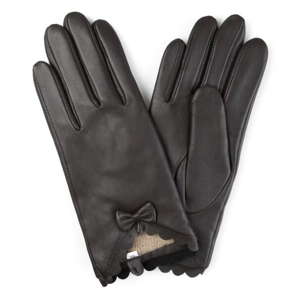 Journee Collection Women's Wool Lined Leather Sheepskin Gloves