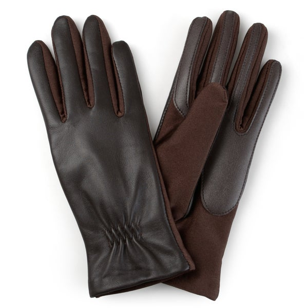 Journee Collection Women's Lined Leather Gloves 19554837