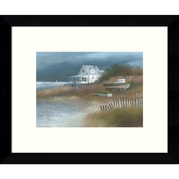 Framed Art Print 'Down from Wellfleet (Coastal)' by Albert Swayhoover 11 x 9-inch