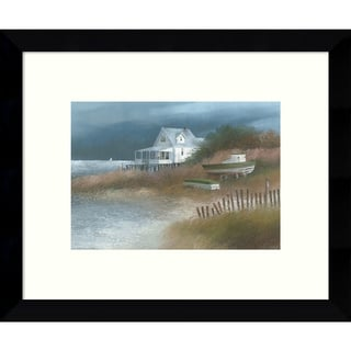 Framed Art Print 'Down from Wellfleet (Coastal)' by Albert Swayhoover 11 x 9-inch