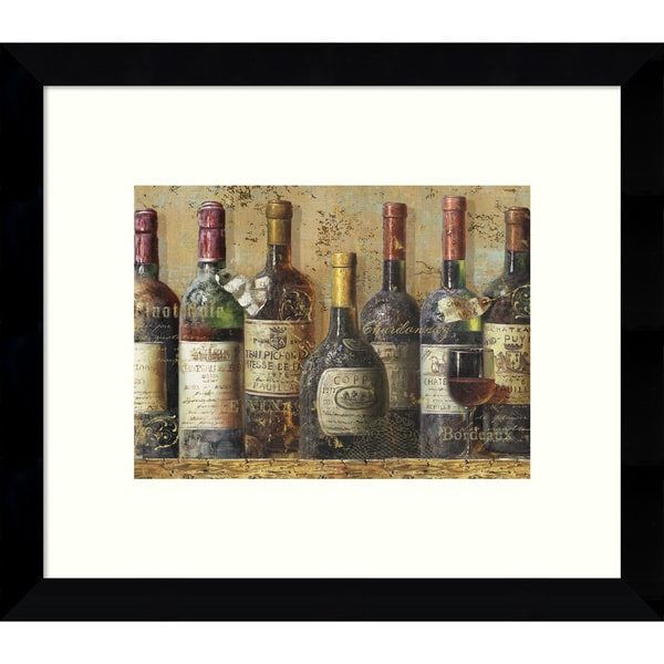 Framed Art Print 'Wine Collection I' by NBL Studio 11 x 9-inch