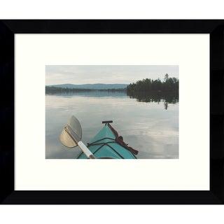 Framed Art Print 'Kayak Dreams' by Orah Moore 11 x 9-inch