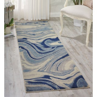 Nourison Somerset Light Blue Area Rug (2' x 5'9)