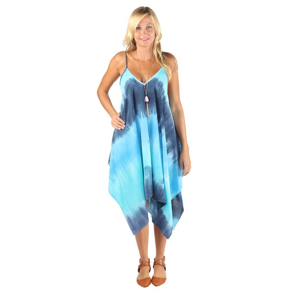 Hadari Woman Tiedye ocean print Boho dress