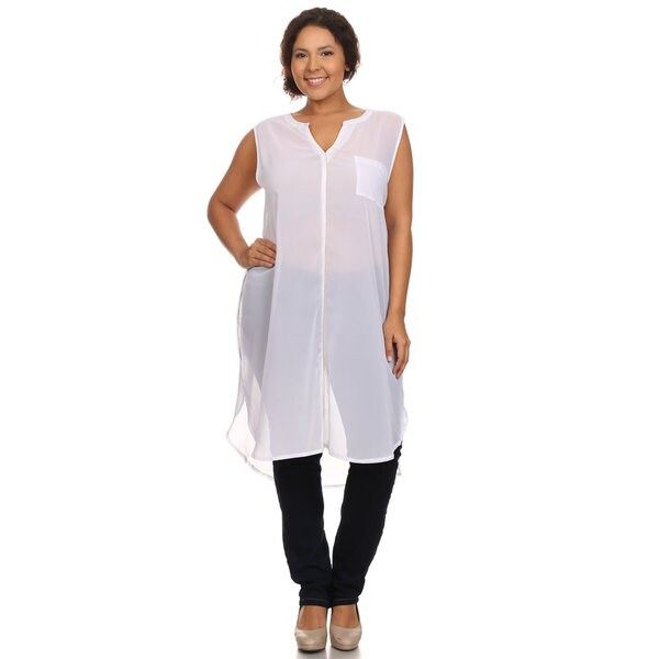 Hadari Woman Sleeveless sheet tunic