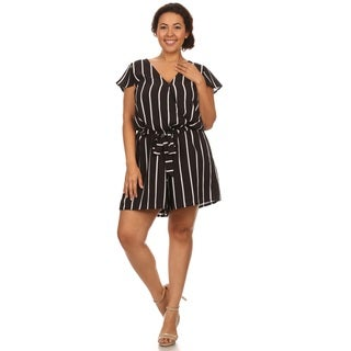 Hadari Woman Plus size Striped short romper