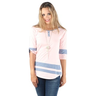 Hadari Woman 3 botten neck line Shirt
