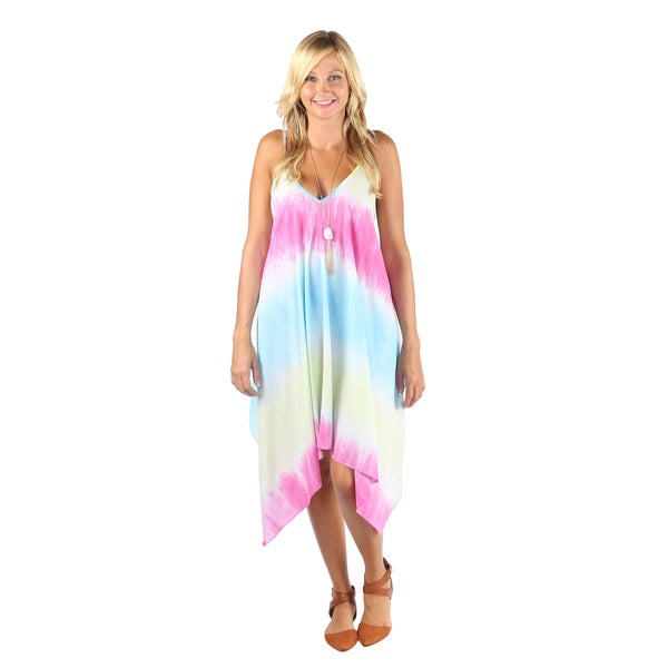 Hadari Woman Tiedye ocean print  Boho dress 19555870