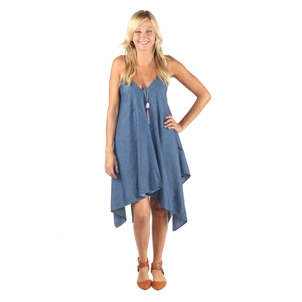Hadari Woman denim print Boho dress