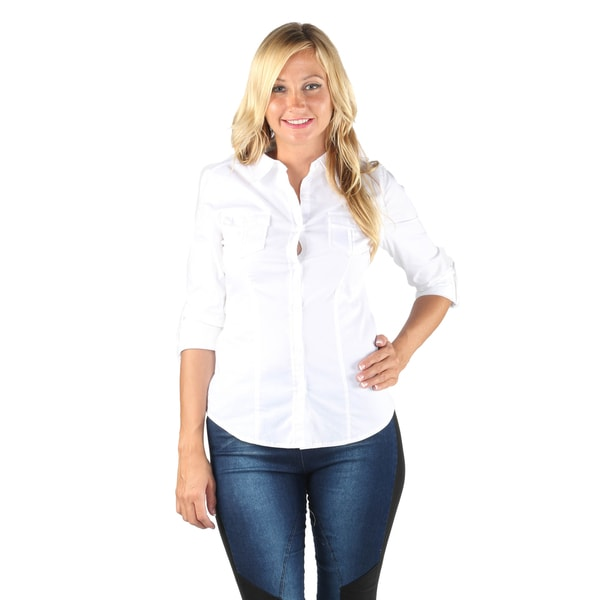 Hadari Woman dress shirt with 2 side pockets