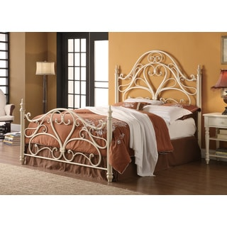 White Metal Queen Bed