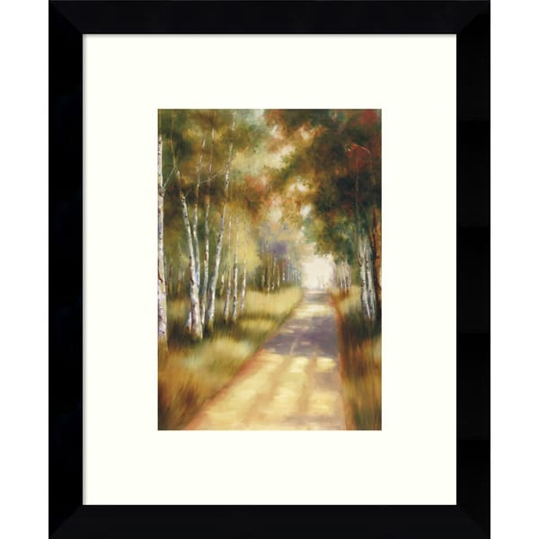 Framed Art Print 'Peaceful Passage in the Forest' by Marc Lucien 9 x 11-inch