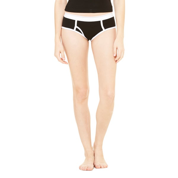 Cotton Women's Black White Spandex Boyfriend Brief