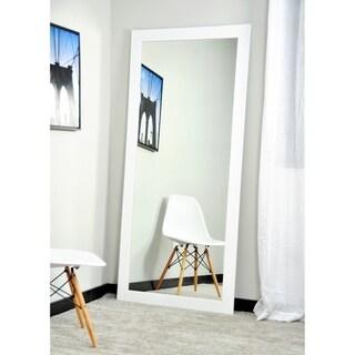 BrandtWorks Pure Matte White 32 x 66 - Inch Floor Mirror