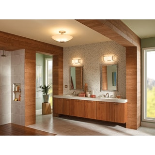 Kichler Lighting Crescent View Collection 3-light Brushed Nickel Bath/Vanity Light
