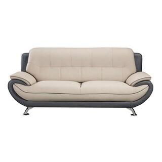 Sunpan Waverly Leather Sofa 16381782 Shopping Great Deals On Sunpan Sofas