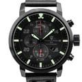 Tschuy-Vogt A15 Crusader  Mens Swiss quartz watch, Military inspired design, Sapphire, Superluminova, high grade leather strap