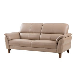 American Eagle Tan Italian Leather Sofa
