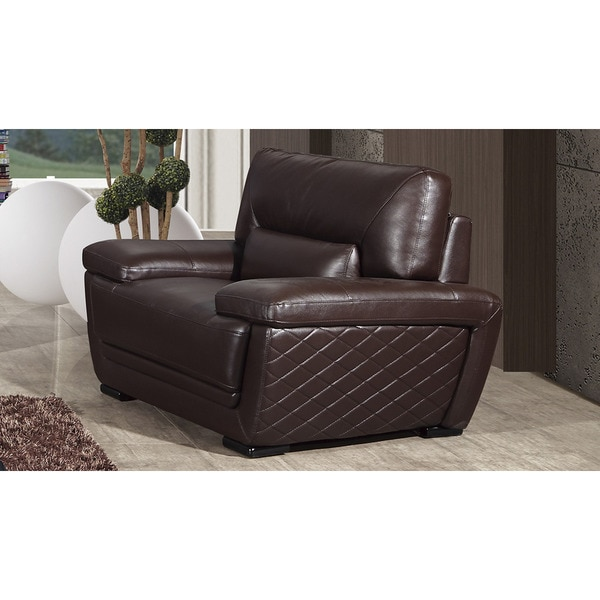 American Eagle Dark Brown Italian Leather Chair